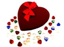 Valentinsgruß-Schokoladen lizenzfreies stockbild