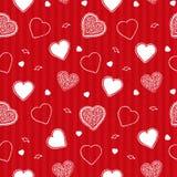 Valentinsgruß streift Muster Lizenzfreies Stockbild