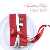 Valentinsgruß-Tabellen-Einstellung Stockfoto