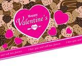 Valentinsgruß-Tag auf buntem Herzen Stockfotografie