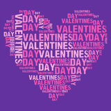 Valentinsgruß-Tag purpurrotes BG Stockbilder