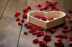 Valentinsgruß-Tag vorhanden für geliebte Stockbilder
