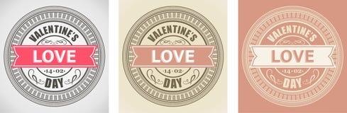 Valentinsgruß-Tageselement für Design, Aufkleber stock abbildung
