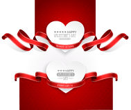 Valentinsgruß-Tagesembleme Lizenzfreie Stockfotografie