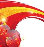 Valentinsgruß-Tagesfunkelnder Hintergrund Lizenzfreie Stockbilder