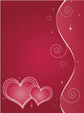 Valentinsgruß-Tagesgruß-Karte Stockbild