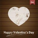 Valentinsgruß-Tagesgrußkarte mit Schmutzherzen Lizenzfreie Stockbilder