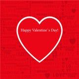 Valentinsgruß-Tagesheftige Papiervektorillustration von s Stockfoto