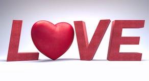 Valentinsgruß-Tageshintergrund 3d übertragen Illustration 3d Stockfoto