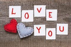 Valentinsgruß-Tageshintergrund mit Herzen Lizenzfreie Stockfotos