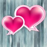 Valentinsgruß-Tageshintergrund mit Herzen. + EPS10 Lizenzfreie Stockbilder