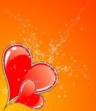 Valentinsgruß-Tageshintergrund mit Inneren lizenzfreie abbildung