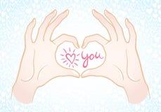 Valentinsgruß-Tagesillustration Stockfotos