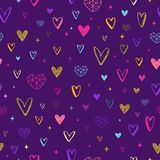 Valentinsgruß-Tagesillustration Nahtloses Innermuster stock abbildung