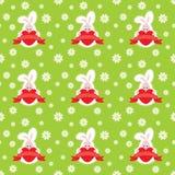 Valentinsgruß-Tageskaninchen-nahtloses Muster Stockbilder
