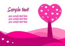 Valentinsgruß-Tageskarte Lizenzfreies Stockfoto