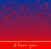 Valentinsgruß-Tageskarte stockfotos
