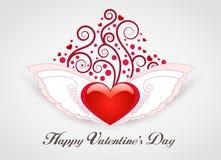 Valentinsgruß-Tageskarte lizenzfreie abbildung