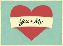 Valentinsgruß-Tageskarte Lizenzfreie Stockfotos