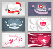 Valentinsgruß-Tageskarten Stockfoto