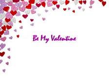 Valentinsgruß-Tageskarten-Valentinsgruß-Tagesparteieinladungs-Fliegerhintergrund Stockbild