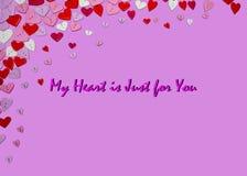 Valentinsgruß-Tageskarten-Valentinsgruß-Tagesparteieinladungs-Fliegerhintergrund Lizenzfreies Stockbild