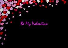 Valentinsgruß-Tageskarten-Valentinsgruß-Tagesparteieinladungs-Fliegerhintergrund Lizenzfreie Stockfotografie
