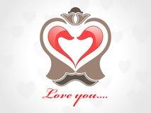 Valentinsgruß-Tagesliebeskarte mit roten Inneren Lizenzfreie Stockfotografie