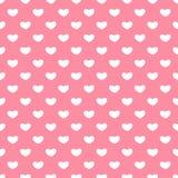Valentinsgruß-Tagesnahtlose Muster Rosa endlose Hintergründe mit Herzen lizenzfreie abbildung