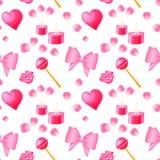 Valentinsgruß-Tagesnahtloses Muster Stockbild