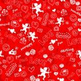 Valentinsgruß-Tagesnahtloses Muster mit Amor Lizenzfreie Stockfotografie