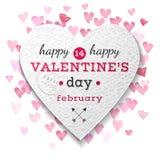 Valentinsgruß-Tagespapier-Herz Stockbilder