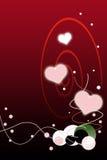 Valentinsgruß-Tagesroter Steigung-Hintergrund mit Luftblase Stockbild