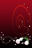 Valentinsgruß-Tagesroter Steigung-Hintergrund mit Luftblase Stockfoto