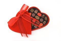 Valentinsgruß-Tagessüßigkeit-Inner-Kasten Stockbild