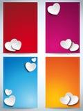 Valentinsgruß-Tagessatz von vier Netz-Fahnen vektor abbildung