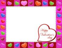 Valentinsgruß-Tagesschöner Hintergrund mit Verzierungen und Herzen. Lizenzfreie Stockbilder