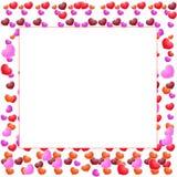 Valentinsgruß-Tagesschöner Hintergrund mit Verzierungen und Herzen. Lizenzfreies Stockfoto