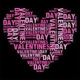 Valentinsgruß-Tagesschwarzes BG Stockbild