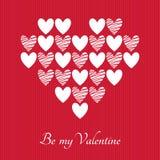 Valentinsgruß-Tagesvektor-Grußkarte Stockbilder