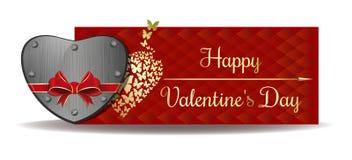 Valentinsgruß-Tagesvektorfahnendesign Lizenzfreie Stockfotografie