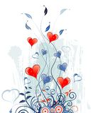 Valentinsgruß-Taggrunge backgrou lizenzfreie abbildung