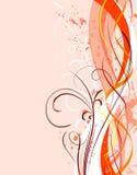 Valentinsgruß-Taggrunge Hintergrund mit Inneren lizenzfreie abbildung
