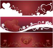 Valentinsgruß-Web-Fahnen Lizenzfreie Stockfotos