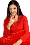 Valentinsgruß-Wein Lizenzfreies Stockbild