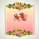 Valentinsgrußausweisschokolade Stockfotografie