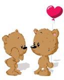 Valentinsgrußbärenpaare Stockfoto
