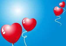 Valentinsgrußballone Lizenzfreie Stockbilder