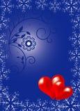 Valentinsgrußblumenhintergrund Lizenzfreies Stockbild