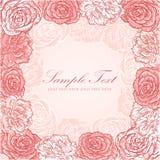 Valentinsgrußblumenstreifeneinladungs-Liebeskarte Lizenzfreies Stockfoto
